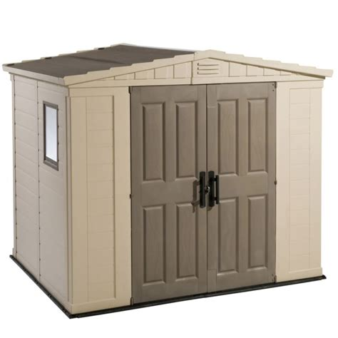 Blooma Plastic Shed by Garden Shed Door Plans Plastic Sheds In B Q