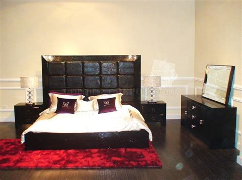 modern glam furniture modern bedroom set glam black