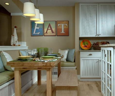 Dining Room Table And Bench Set by Easygoing Eating Kitchen Design Ideas Homeportfolio
