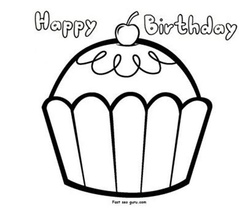 happy birthday coloring pages games print out happy birthday muffin cupcake coloring pages