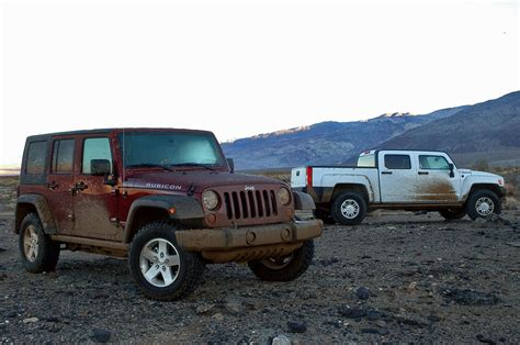 Jeep Rubicon Vs Jeep Wrangler Unlimited Rubicon Vs Hummer H3t Photo