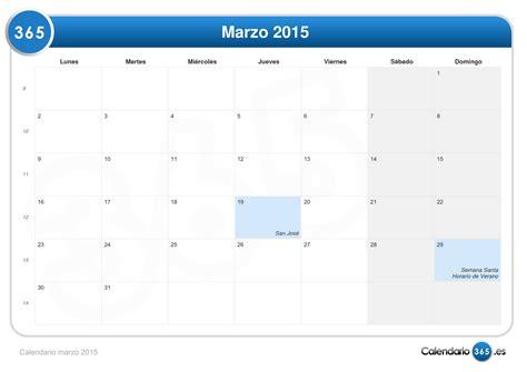 Calendario Marzo 2015 Calendario Marzo 2015