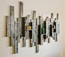 barn wood shelves wall decor rustic display shelf decorative wall