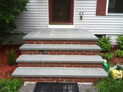 bluestone brick front entrance steps masonry patios blue stone and brick steps bluestone treads and