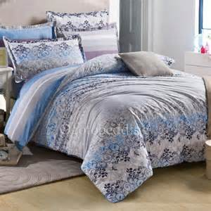 Ralph Lauren Comforters Clearance Striped And Floral Clearance Cotton Twill Blue And Grey