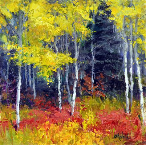 painting pictures aspen no1 12x12