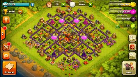 hybrid layout meaning coc clash of clans town hall 10 hybrid base layout youtube