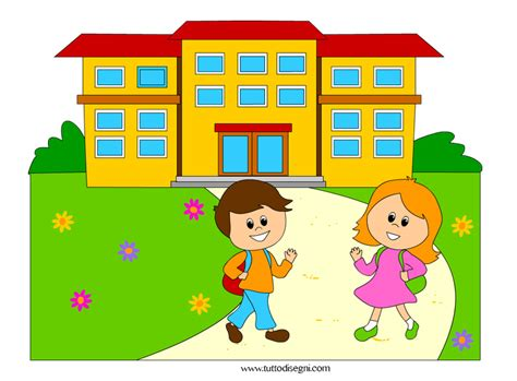 clipart scuola immagine di bambini vanno a scuola tuttodisegni