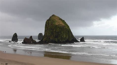 haystack rock in oregon goonies rock youtube
