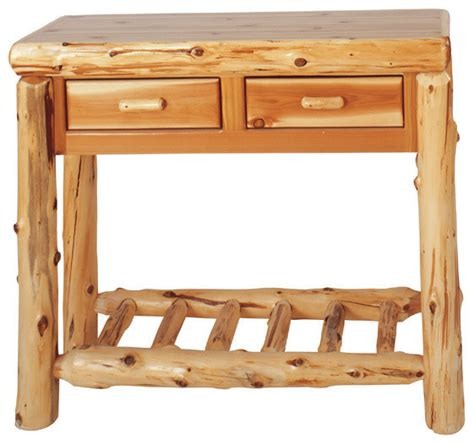 Rustic Console Table With Drawers by Log Sofa Table With 2 Drawers Rustic Console Tables