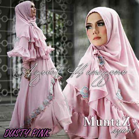 Syari Misbie Alya Pink muntaz dusty pink baju muslim gamis modern