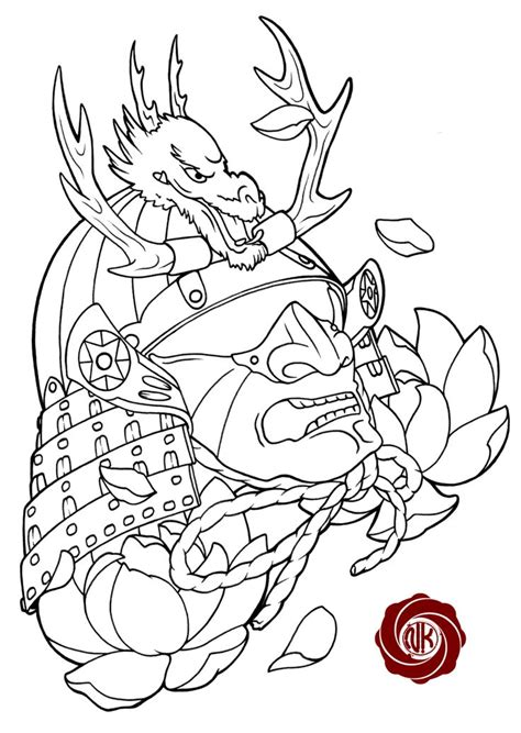 tattoo design sketchbook traditional japanese samurai designssamurai sketch
