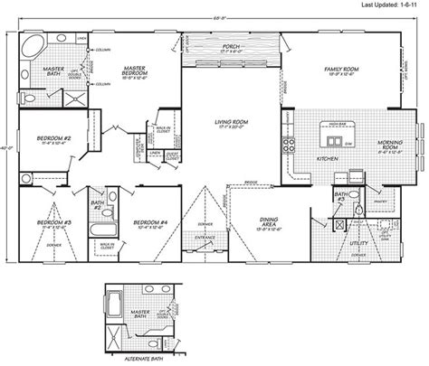1999 fleetwood mobile home floor plan old fleetwood mobile home floor plans