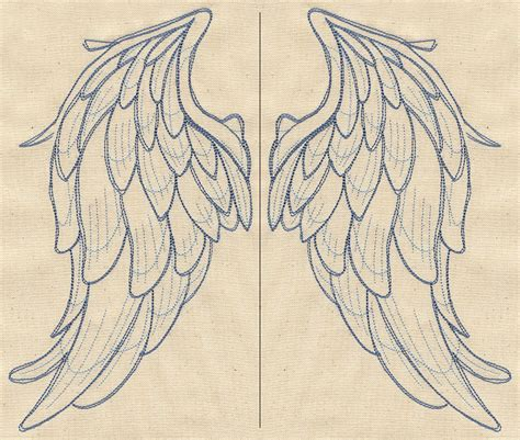 best photos of t shirt angel wing templates printable