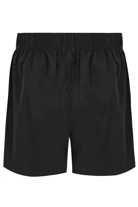 Black Multi-Purpose Swim Shorts With Drawstring Waist