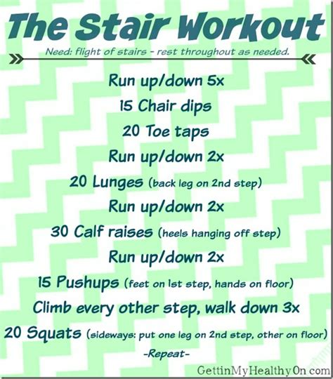a workout using only stairs gettin my healthy on