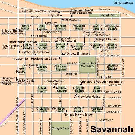 printable map historic district savannah ga 11 top rated tourist attractions in savannah planetware