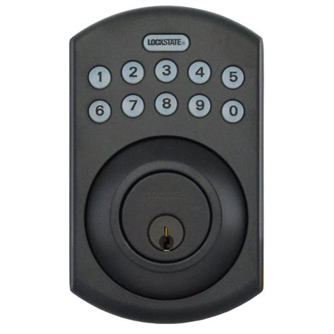 rubbed bronze ls remotelock rubbed bronze electronic keypad deadbolt