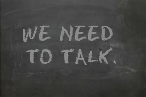 To Talk by We Need To Talk The Of The Difficult Conversation