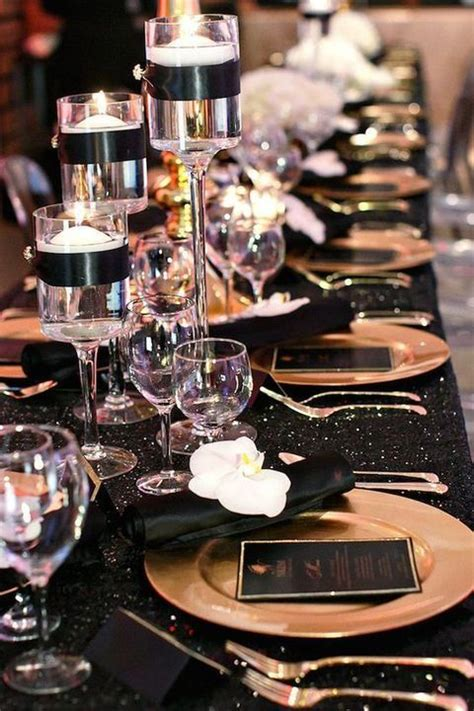 54 black white and gold wedding ideas our day black gold gold wedding decorations