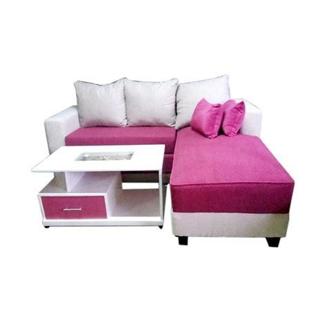 Sofa Bed Bentuk L jual aldi furniture minimalis sofa l bed merah
