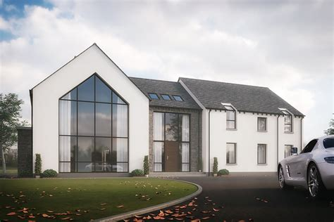 house design exterior uk poseyhill house doagh county antrim slemish design studio