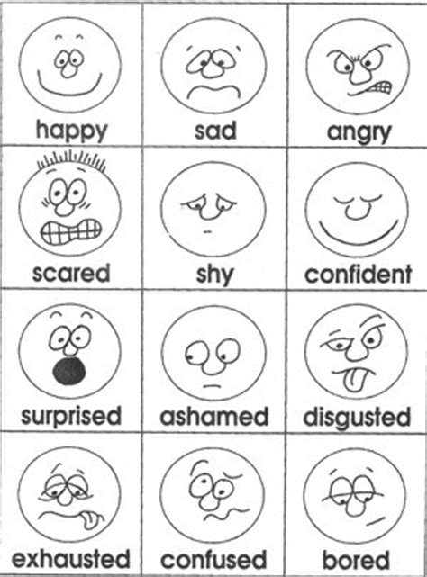 printable emotion faces chart emotions cards from teacher treasures mary s freebie page
