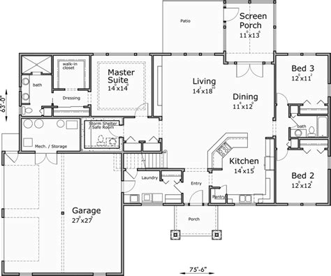 One Story House Plans House Plans With Bonus Room House Single Story House Plans With Bonus Room