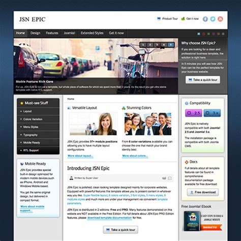 free epic joomla template by joomla shine