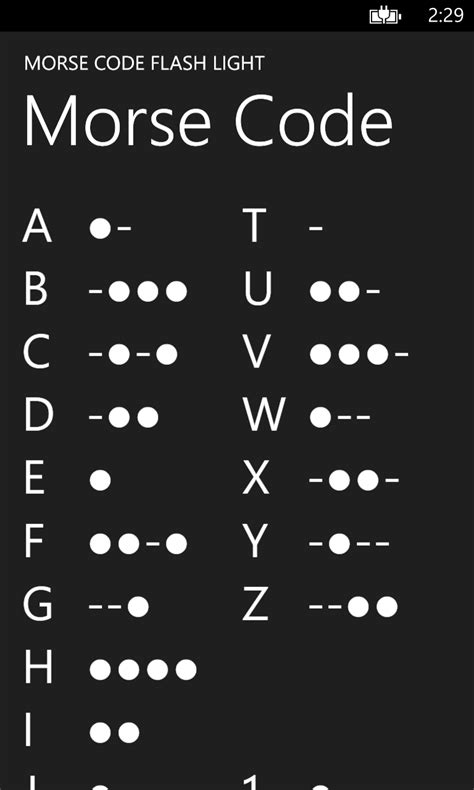 Morse Code Flash Light for Windows 10 free download on 10