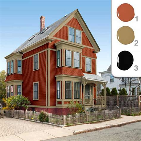 exterior house paint color schemes
