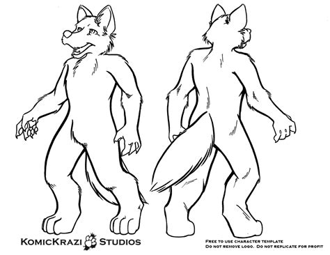 fursona template digitigrade canine free character template weasyl