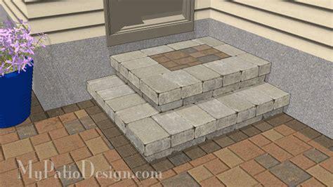 patio steps design step designs for your patio downloadable plans