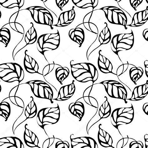 imagenes de hojas a blanco y negro hojas de patrones sin fisuras vector con mano dibujo