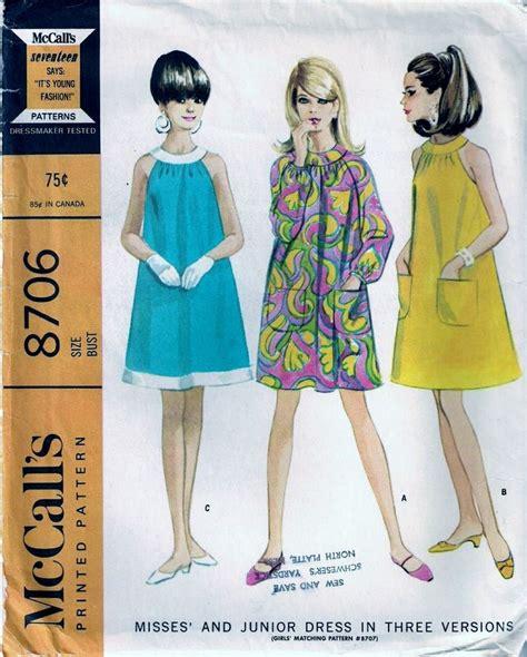 pattern emporium trapeze vintage pattern 1960s mccalls 8706 trapeze dress size 12 b32
