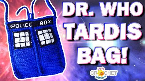 crochet tardis bag pattern dr who tardis bag crochet pattern with lining youtube