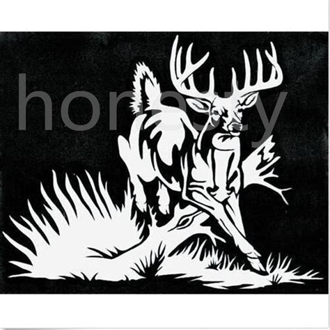 hunting decals car window stickers decal junky whitetail deer buck hunting car truck window vinyl decal