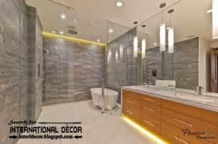 contemporary bathroom lights and lighting ideas led luxurious modern interior design