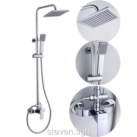 Single Handle Bathroom Rain Shower Faucet Mixer Valve Set Shower Sets For Bathroom