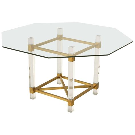 brass dining table acrylic and brass dining table for sale at 1stdibs