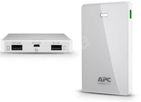 Apc Mobile Power Bank Pack 10000mah M10wh apc mobile power pack 10000 white power bank alzashop