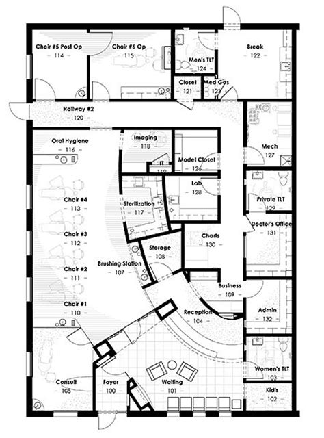orthodontic office design floor plan e30e09ed69e2ebd8d2d124aa073fcc61 jpg 444 215 600 clinic