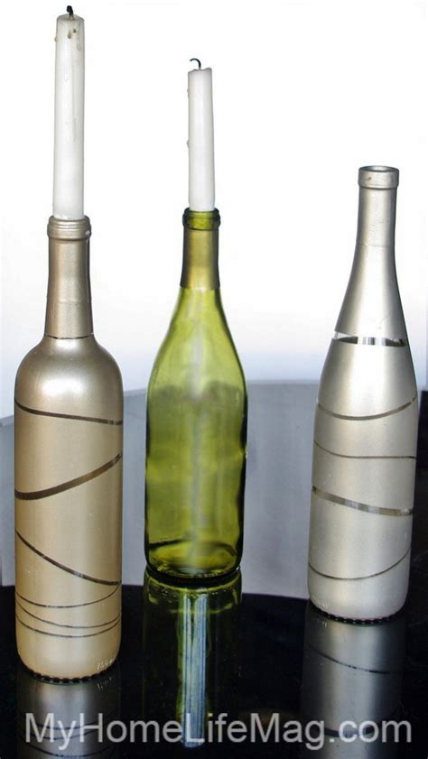 Decorating Vases With Glitter 40 Diy Ideas On How To Transform Empty Wine Bottles Into