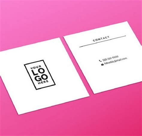 square business cards template free clean square business card template psd titanui