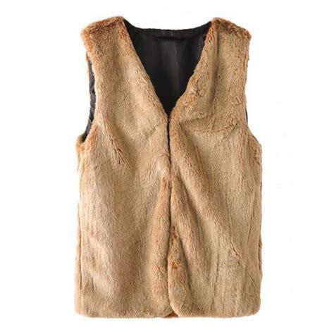 light brown faux fur jacket faux fur light brown vest jacket