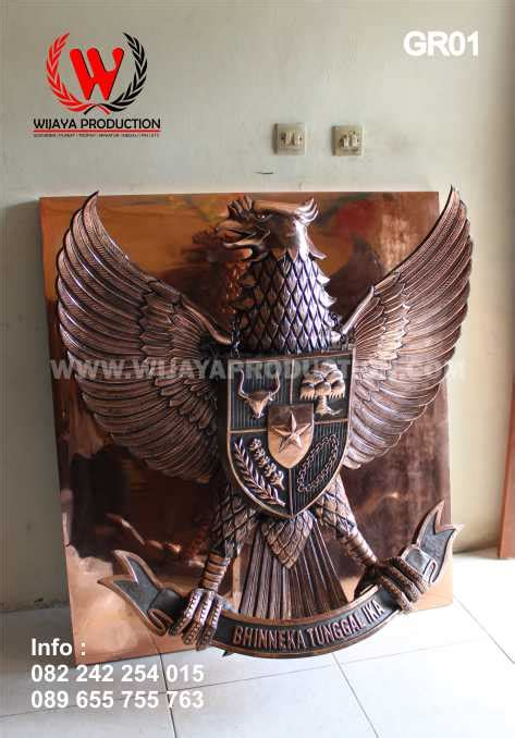 Odiaz Jam Dinding Lambang Garuda wijayaproduction lambang garuda pancasila kuningan tembaga
