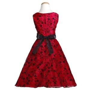 Red black brooch sash christmas dress girl 7 16 sophiasstyle com