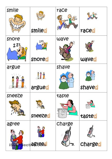 printable games for past tense simple past tense playing cards poon pinterest