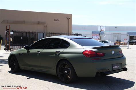 matte green bmw 6 series gran coupe frozen bronze or matte green