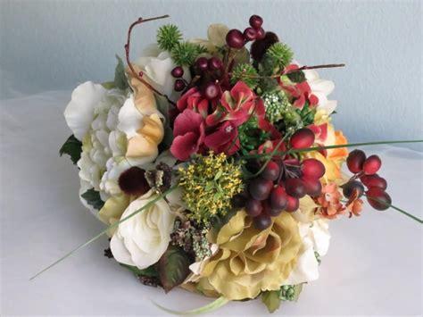 Autumn Silk Wedding Flowers by Autumn Wedding Bridal Bouquet Silk Flowers Wedding